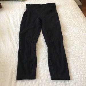 Size 4 Black Lululemon 7/8 Tights